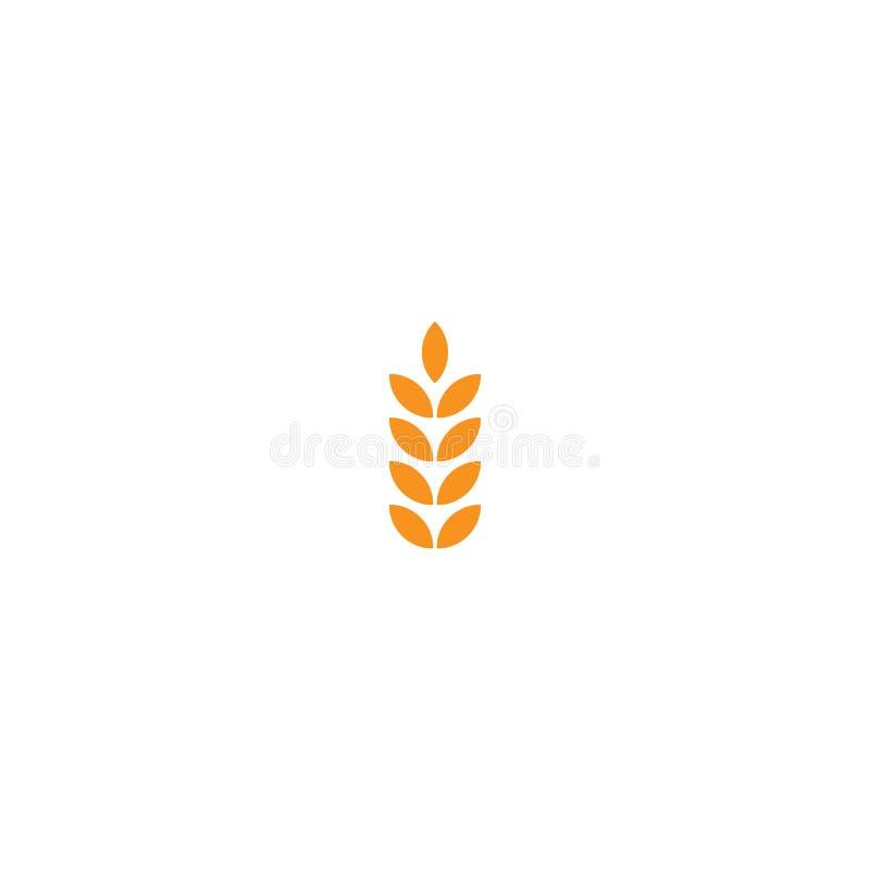 Spike cereal ear spica flat icon. Spike concept symbol design. element vector illustration on a white background, eps 10 vector illustration