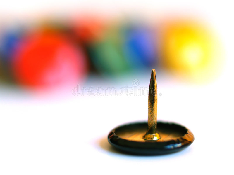 Spike of drawing-pins stock photography
