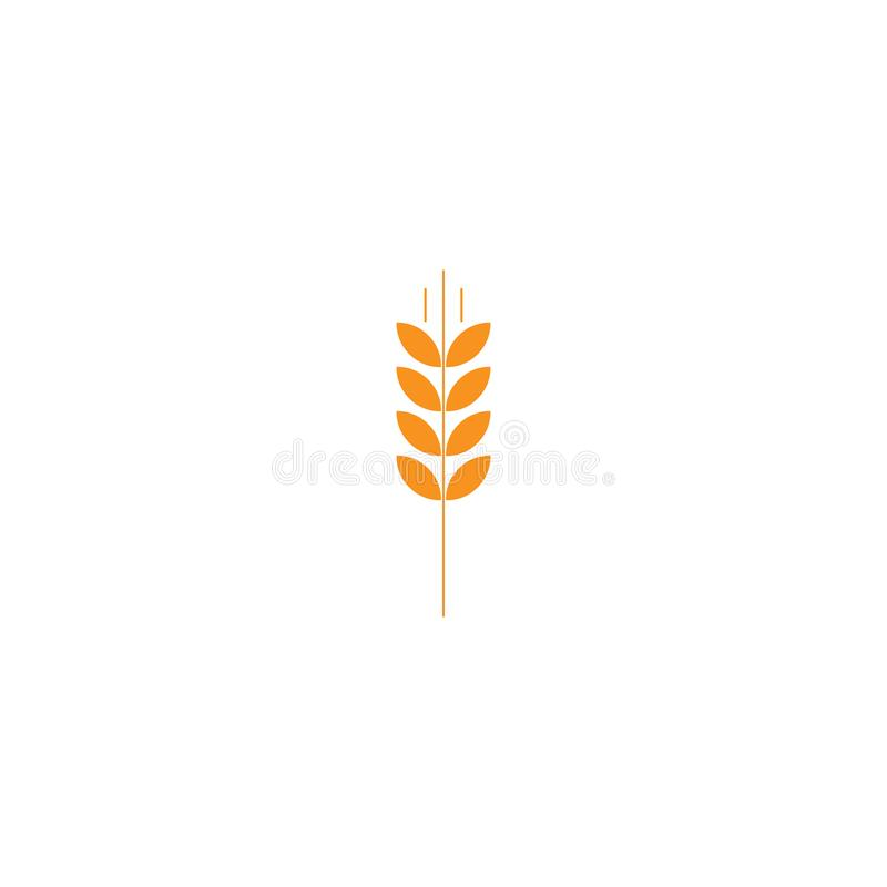 Spike cereal ear spica flat icon. Spike concept symbol design. element vector illustration on a white background, eps 10 stock illustration