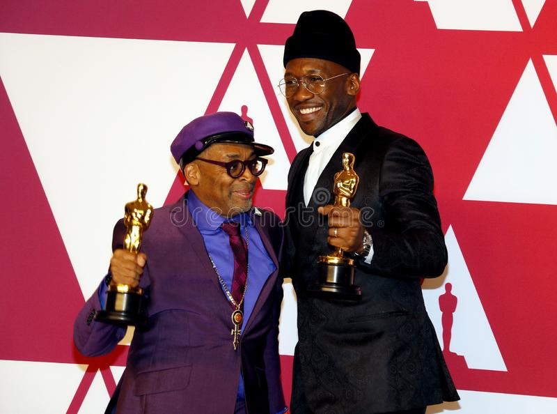 Spike Lee and Mahershala Ali. Mahershala Ali and Spike Lee at the 91st Annual Academy Awards - Press Room held at the Loews Hotel in Hollywood, USA on February royalty free stock photo