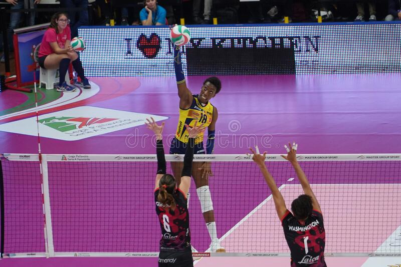 Volleyball Italian Women Cup Finals 2020 - Imoco Conegliano vs Unet E-work Yamamay Busto Arsizio royalty free stock photography