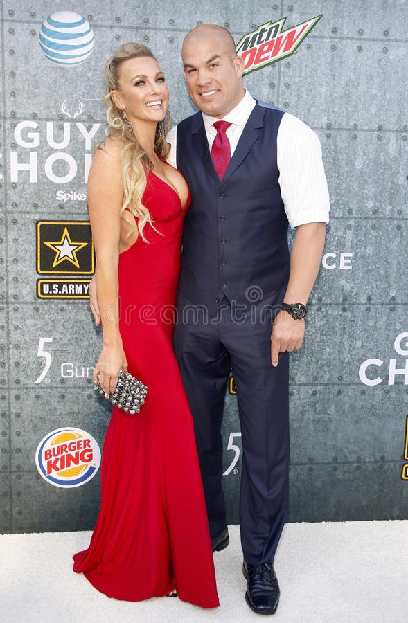 2015 Spike TV`s Guys Choice Awards. Amber Nichole Miller and Tito Ortiz at the 2015 Spike TV`s Guys Choice Awards held at the Sony Pictures Studios in Culver stock images