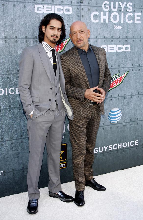 2015 Spike TV`s Guys Choice Awards. Ben Kingsley and Avan Jogia at the 2015 Spike TV`s Guys Choice Awards held at the Sony Pictures Studios in Culver City, USA royalty free stock images