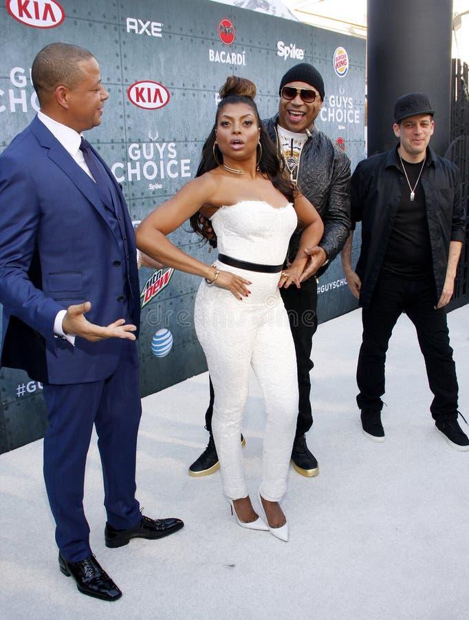 2015 Spike TV`s Guys Choice Awards. Terrence Howard, LL Cool J and Taraji P. Henson at the 2015 Spike TV`s Guys Choice Awards held at the Sony Pictures Studios stock image
