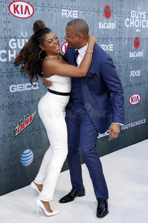 2015 Spike TV`s Guys Choice Awards. Terrence Howard and Taraji P. Henson at the 2015 Spike TV`s Guys Choice Awards held at the Sony Pictures Studios in Culver royalty free stock image
