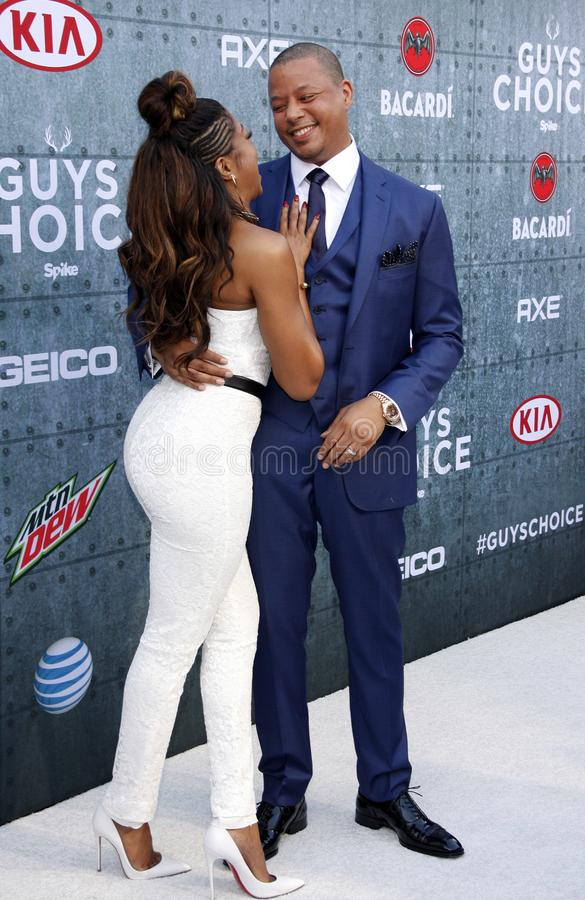 2015 Spike TV`s Guys Choice Awards. Terrence Howard and Taraji P. Henson at the 2015 Spike TV`s Guys Choice Awards held at the Sony Pictures Studios in Culver stock images