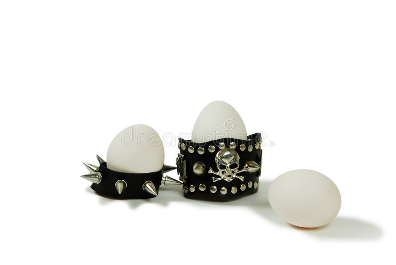 Spiked eggs royalty free stock photography