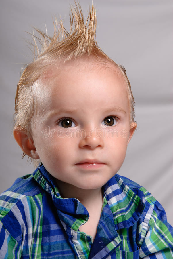 Download Spiked Hair Toddler Boy stock image. Image of youth, cheerful - 17014257