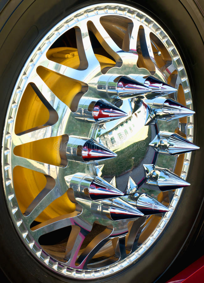 Download Spiked wheel stock image. Image of expensive, vertical - 20329269