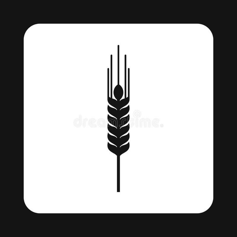 Spikelet pszeniczna ikona, prosty styl royalty ilustracja