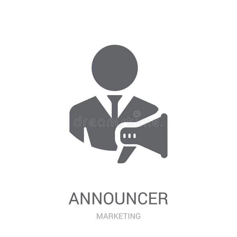 Spiker ikona Modny spikera logo pojęcie na białym backgroun ilustracji