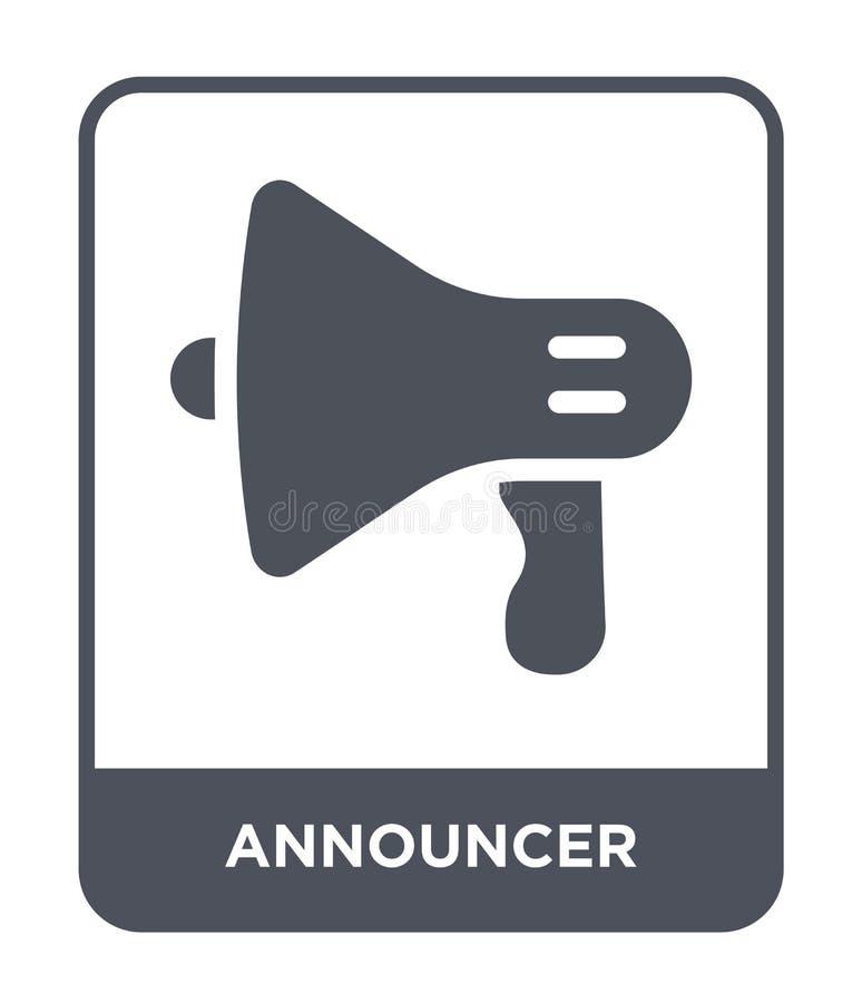spiker ikona w modnym projekta stylu spiker ikona odizolowywająca na białym tle spiker wektorowej ikony prosty i nowożytny mieszk ilustracja wektor