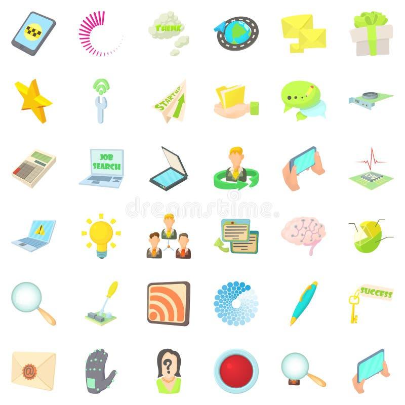 Spiker ikony ustawiać, kreskówka styl ilustracja wektor