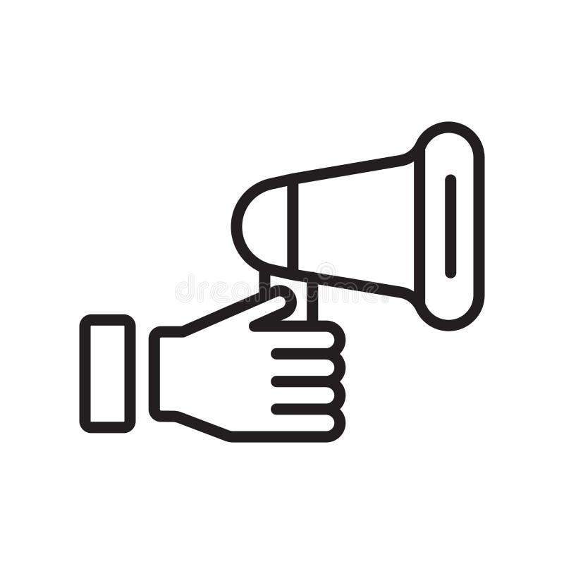 Spiker ikony wektoru znak i symbol odizolowywający na białym backgrou ilustracja wektor