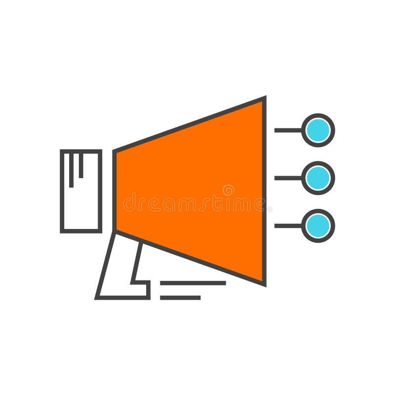 Spiker ikony wektoru znak i symbol odizolowywający na białym backgrou ilustracji