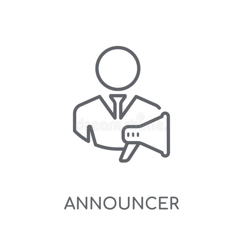 Spiker liniowa ikona Nowożytny konturu spikera logo pojęcie dalej royalty ilustracja