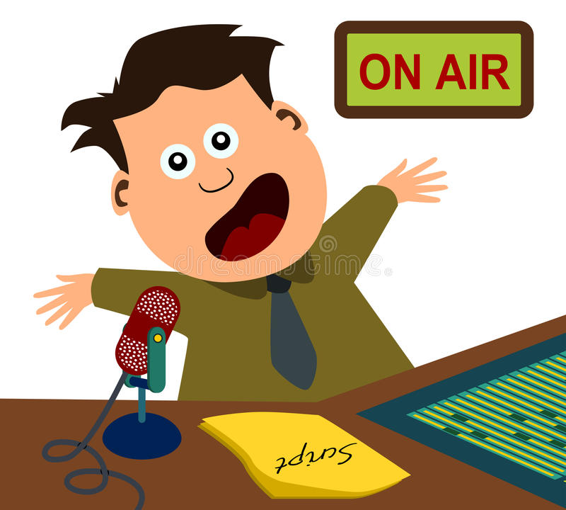spikera radio ilustracja wektor