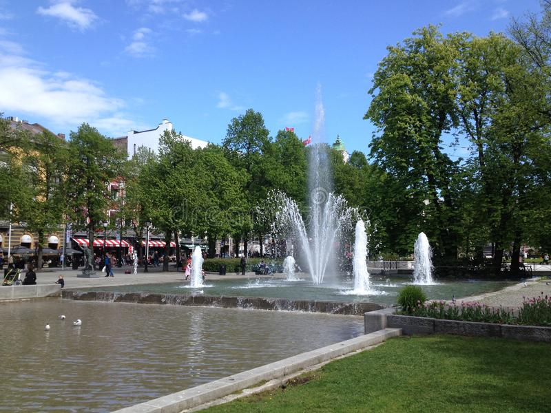 Spikersuppe em Oslo foto de stock