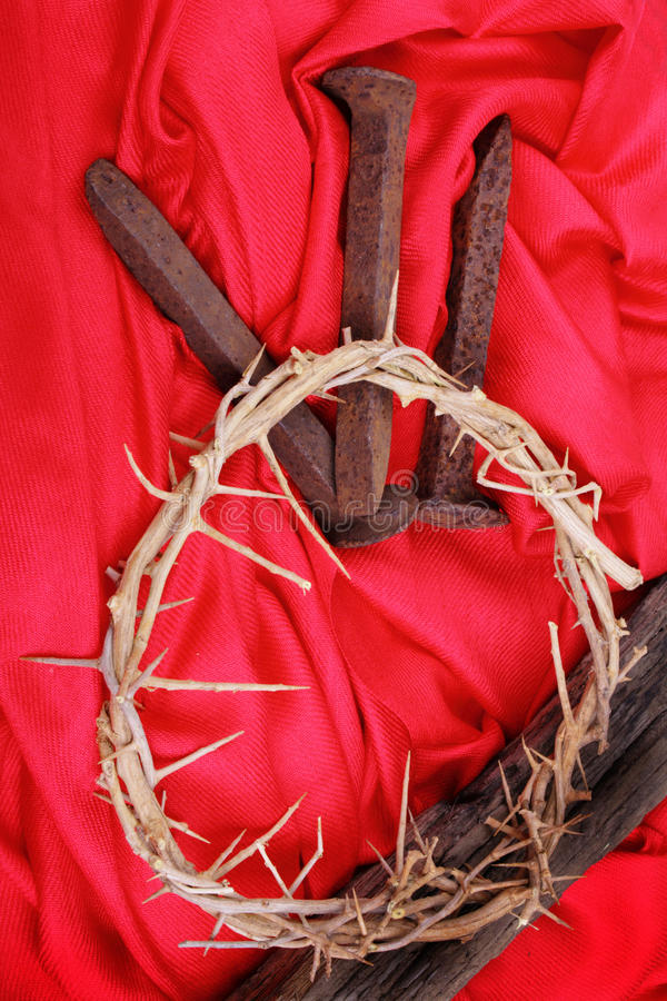 Download Spikes and Thorns on Red stock image. Image of aged, crown - 22998845