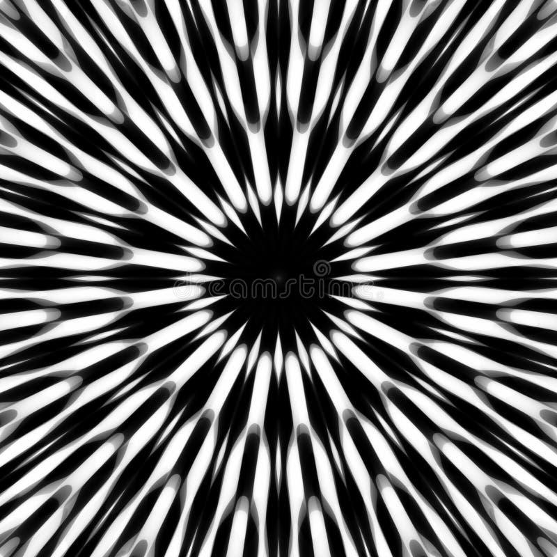 Spikey Schwarzweiss-Muster stock abbildung