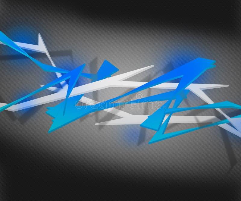Spiky abstrakt bakgrund för blått stock illustrationer