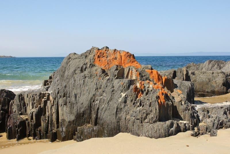 Spiky Beach, Tasmania, Australia. Lovely Spiky Beach, close to Swansea, Tasmania, Australia royalty free stock images
