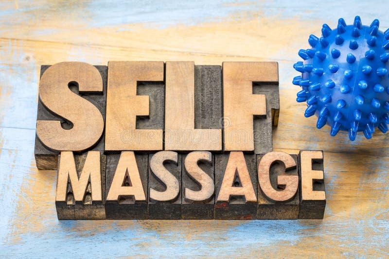 Spiky jaźń masażu pojęcie fotografia royalty free