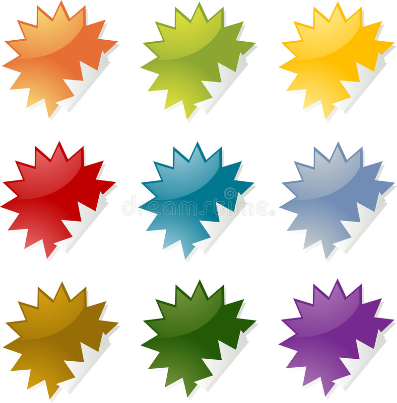 Spiky stickers royalty free illustration