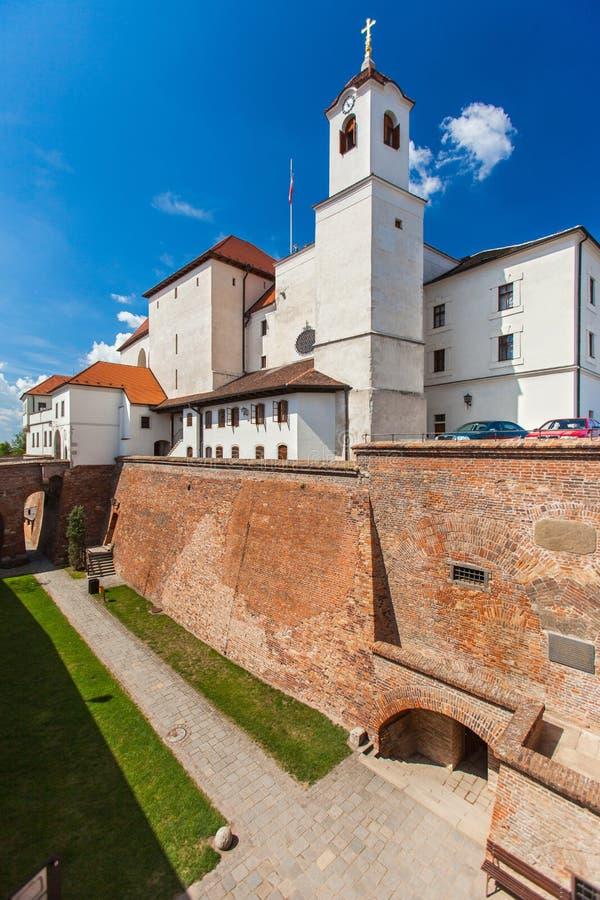 Spilberk城堡,堡垒小山位于布尔诺。 免版税库存照片