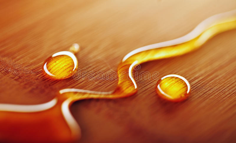 Spill of honey stock images