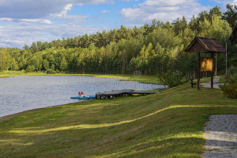 Spill lake. Family fun. And great fishing stock image