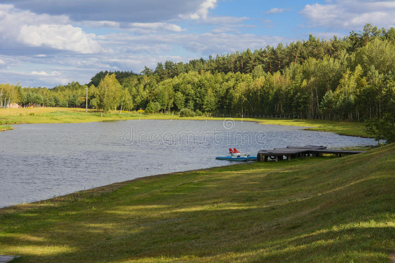 Spill lake. Family fun. And great fishing stock photos