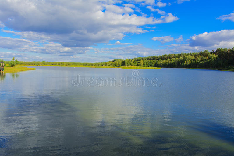 Spill lake. Family fun. And great fishing royalty free stock image