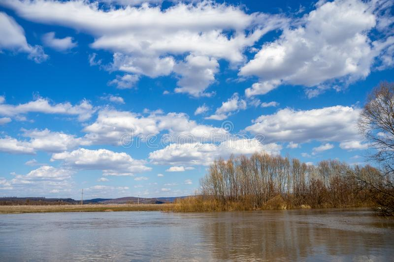 Spill the river royalty free stock photo