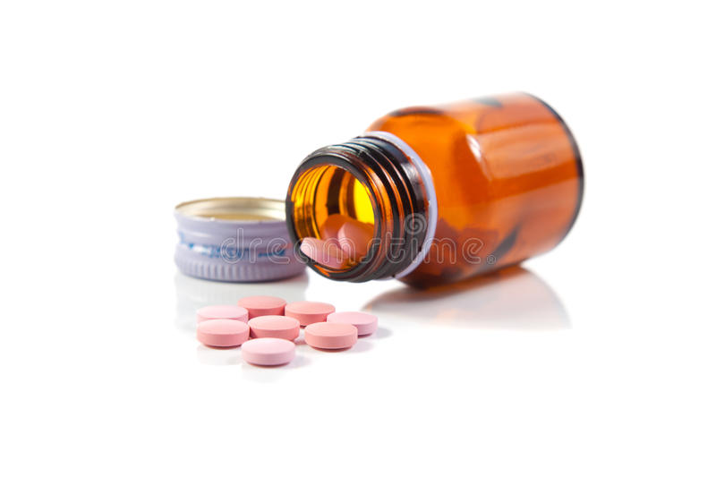 spillda öppna pills för flaska arkivbilder