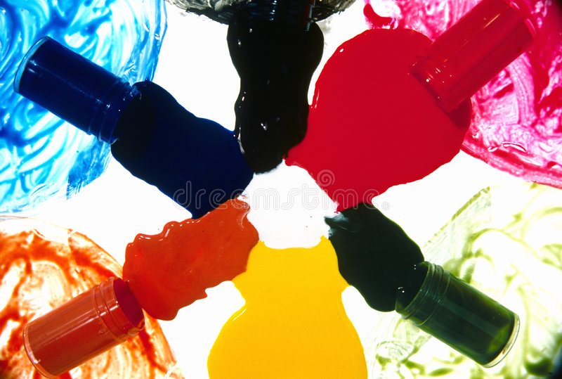 Download Spilled colorful paint stock photo. Image of glass, yellow - 4659862