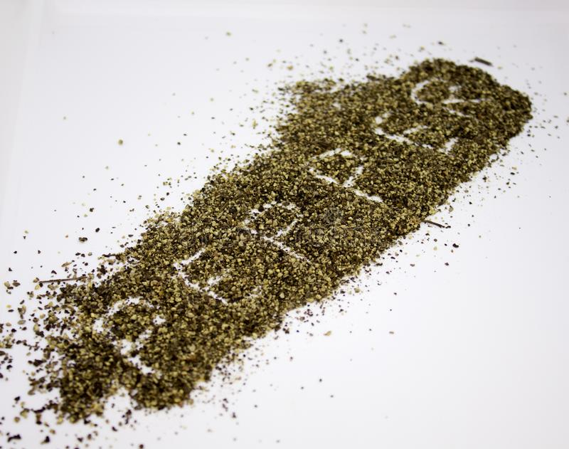 Spilled ground pepper royalty free stock images
