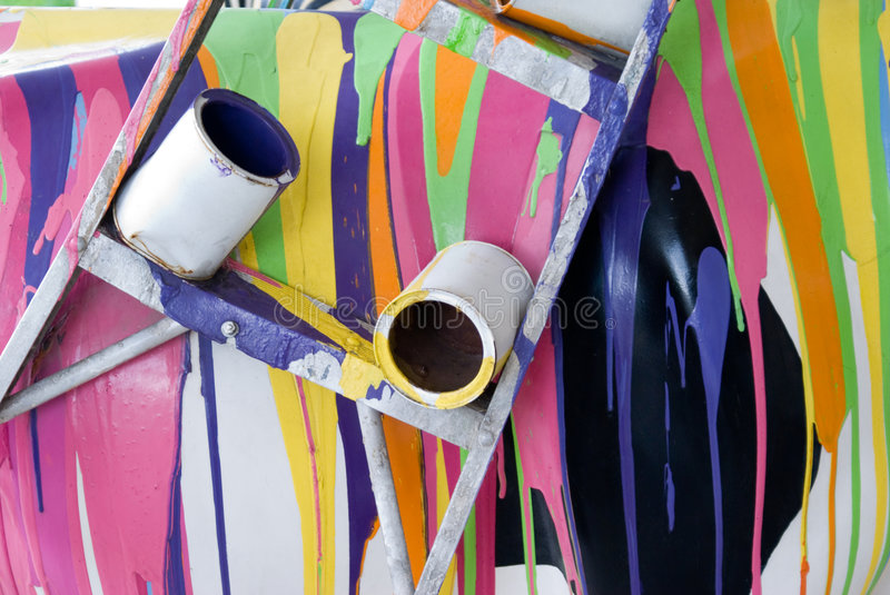 Spilled Paint royalty free stock photography