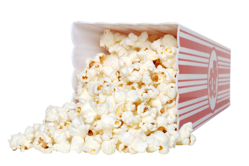 Download Spilled Popcorn stock photo. Image of food, container - 11743986