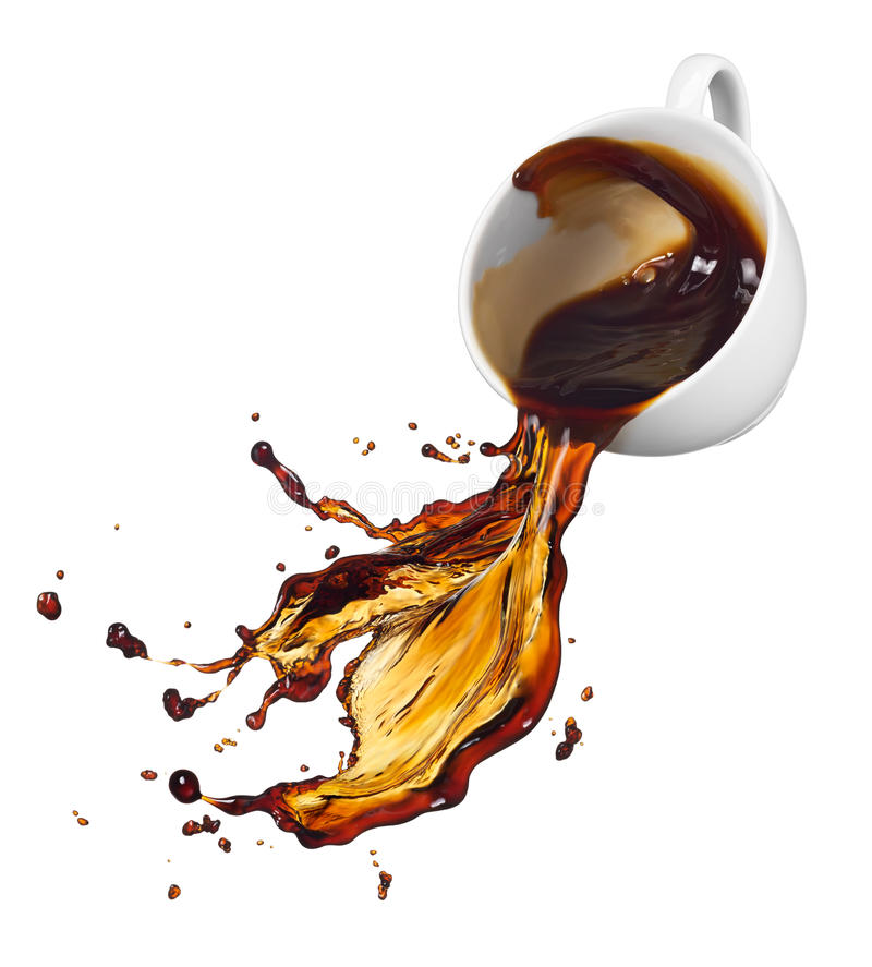 Download Spilling coffee stock image. Image of drink, splash, white - 40310111