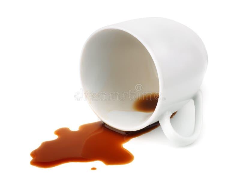 spillt kaffe royaltyfri foto