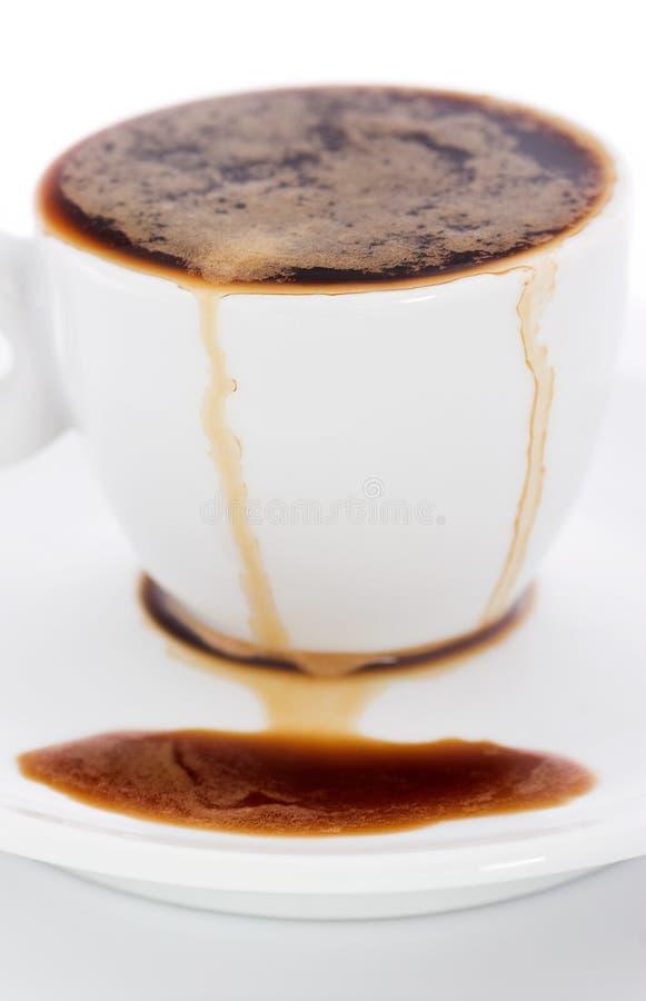 spillt kaffe arkivbilder