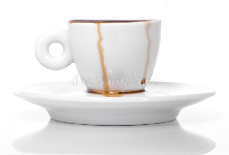 spillt kaffe royaltyfria bilder