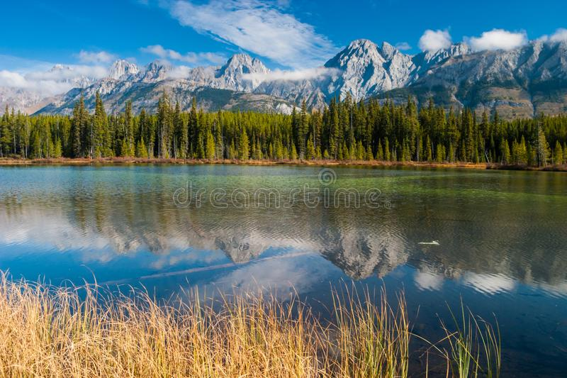 Spillway Lake in Peter Lougheed Provincial Park royalty free stock images