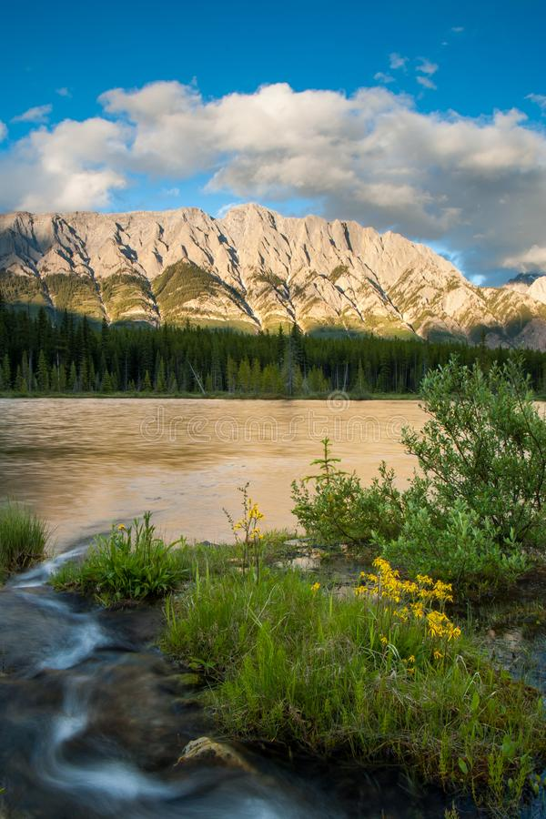 Spillway Lake in Peter Lougheed Provincial Park royalty free stock photo