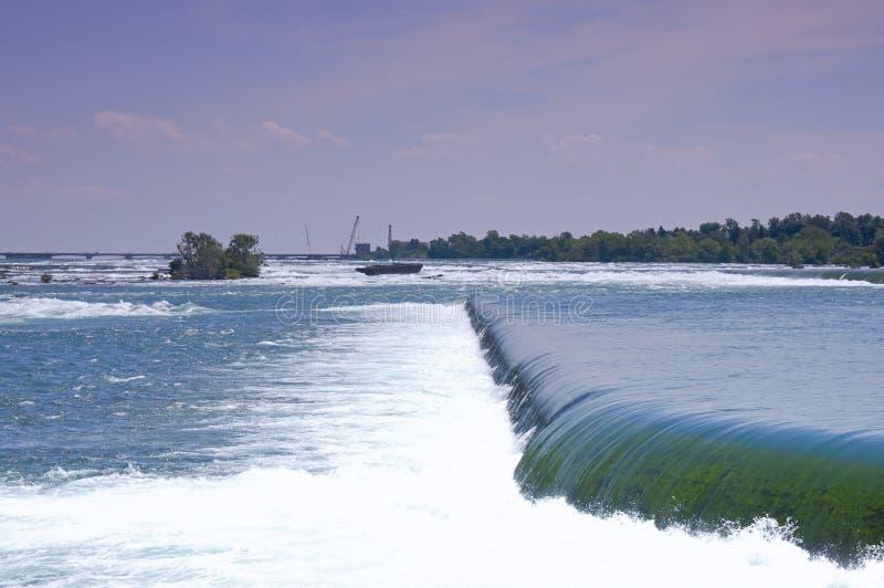 Spillways del fiume di Niagara fotografie stock