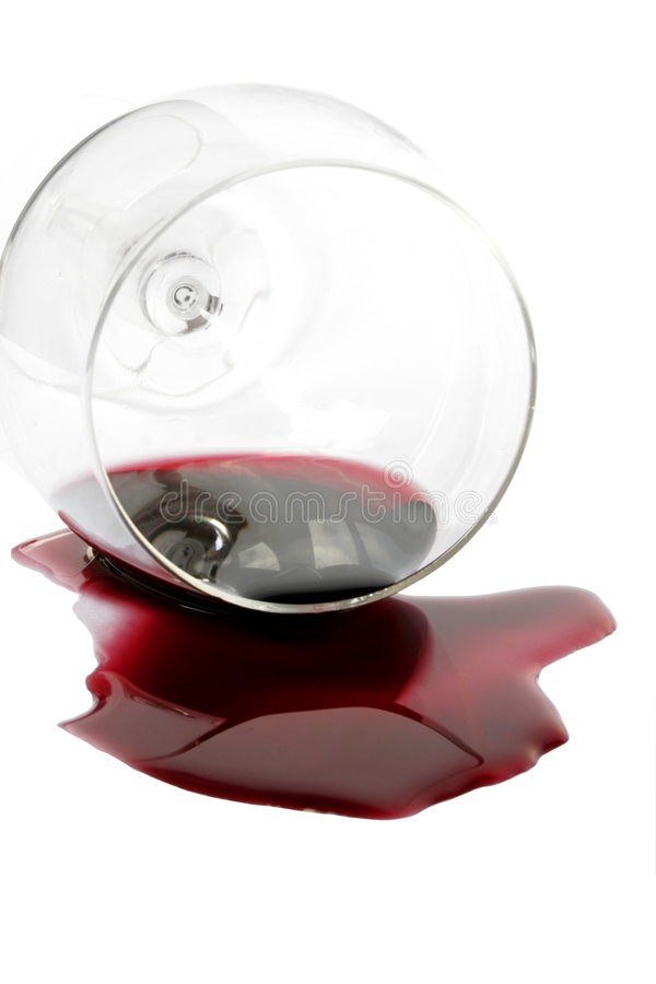 Spilt Red Wine royalty free stock images