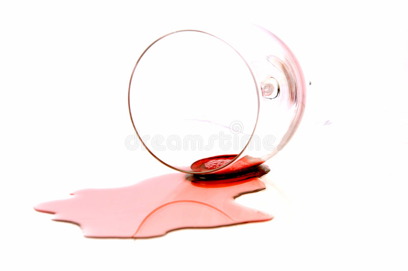 Spilt Red Wine royalty free stock image