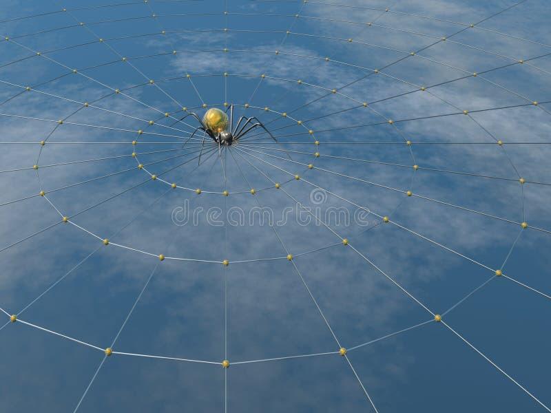 Spin en Web royalty-vrije illustratie