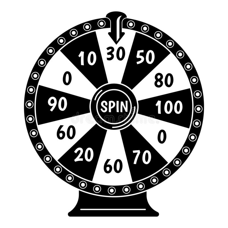 Free Spin Fortune Wheel Icon, Simple Style Stock Photography - 147297262